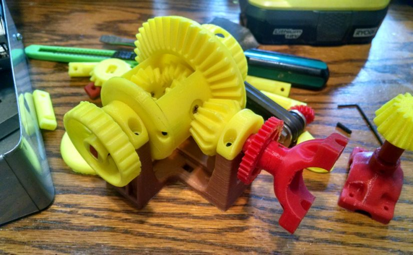 Differential Gear made from PLA