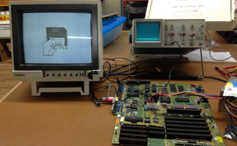Amiga 2000 board on one of NESIT's workbenches