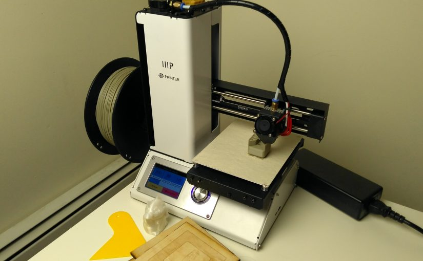 Monoprice Select Mini 3D printer mid-print