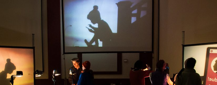 Puppetry being created by Manual Cinema